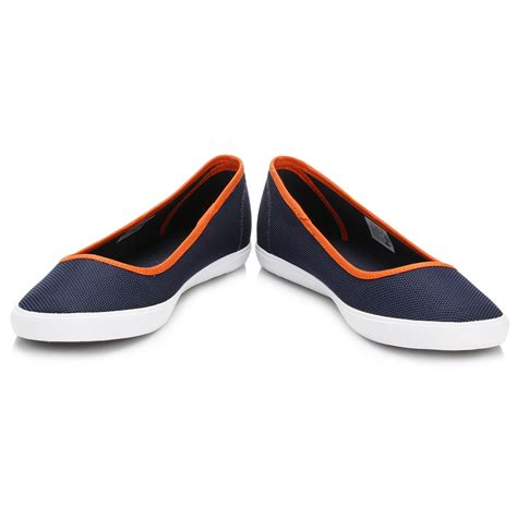 Lacoste Casual Navy lacoste womens navy marthe slip on pumps casual shoes