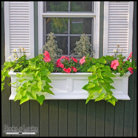 vinyl window flower boxes vinyl window boxes fairfield window box colored vinyl
