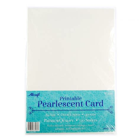 How To Make A4 Pearlescent - printable pearlescent a4 card 300gsm white 20 pack
