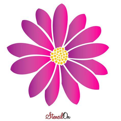 printable daisy stencils large daisy flower wall stencil