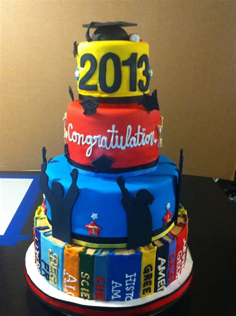 graduation cake chocolate  vanilla  buttercream fondant  gum paste decorations