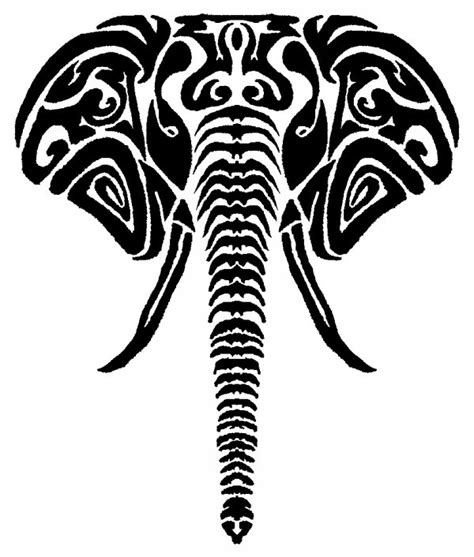 tribal elephant stencil