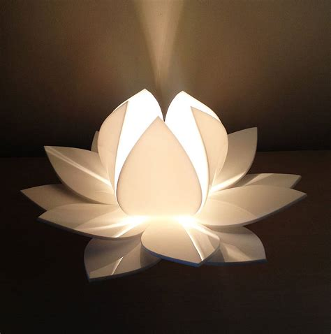 lotus flower table l by kirsty shaw