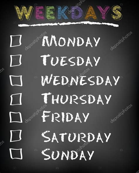 Sat On Sunday Maandag Dinsdag Woensdag Donderdag Vrijdag Zaterdag Zondag