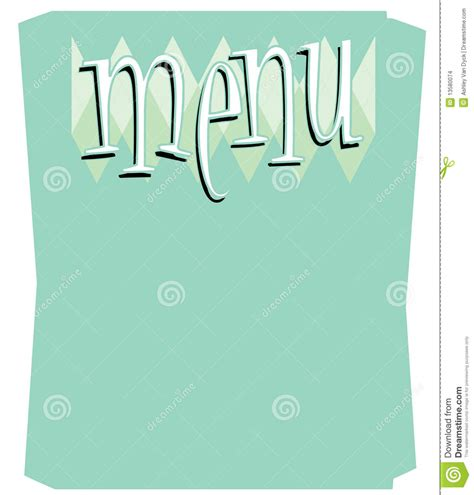 fun retro menu template stock images image 13580074
