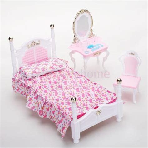 barbie doll bedroom noble bedroom furniture set dollhouse accessories for