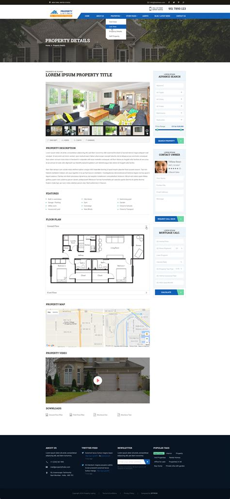 property listing website template real estate listing website template 28 images 40 best