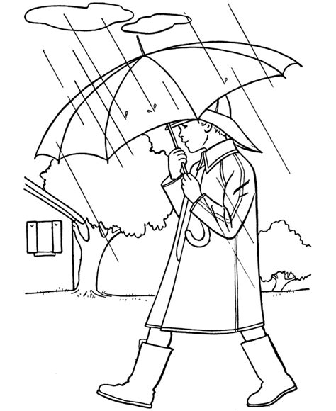 spring house coloring pages spring coloring pages kids spring boy with umbrella