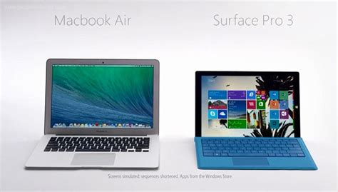 microsoft surface pro 3 vs macbook air comparison review of specs price reviews breathecast