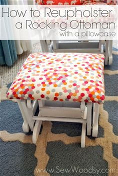 how to reupholster a pillow top ottoman 1000 images about diy things to make from old