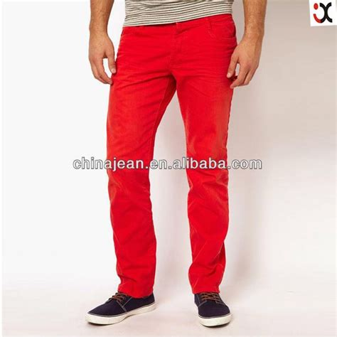 colored jeans in 2015 2015 new model jeans pants colored mens jeans red jxc30002