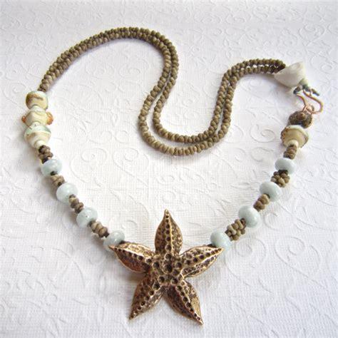 Kalung Choker Bronze Starfish 61798 bronze starfish necklace lwork necklace style