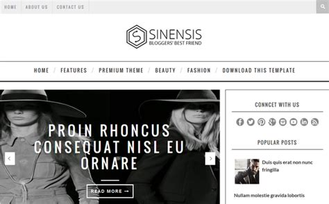 attractive templates for blogger sinensis attractive blogger template blogger templates