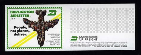 burlington airfreight mail airletters st community forum