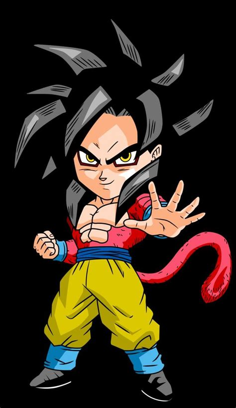 dragon ball z chibi wallpaper chibi super saiyan 4 goku dragon ball z desktop