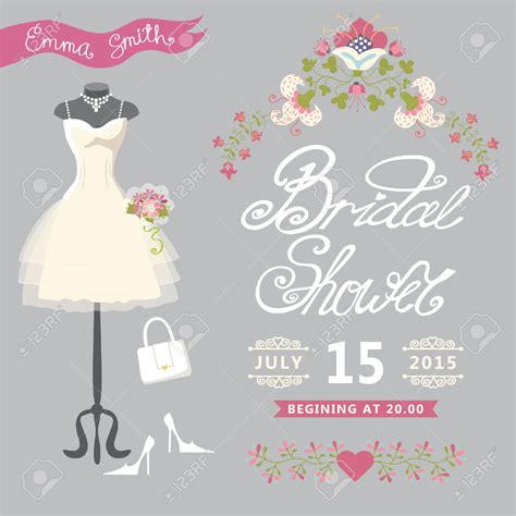 Bridal Shower In by Bridal Shower Invitations Vector Bridal Shower Invitations