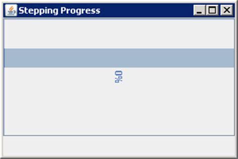definition of swing in java using an indeterminate jprogressbar jprogressbar 171 swing