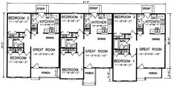 two family floor plans multi family plan 45364 at familyhomeplans com