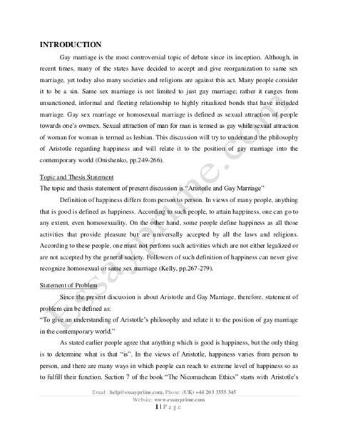 Gay marriage essay against polygamy