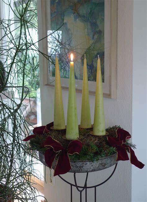 Hohe Kerzen by Weihnachten Keramik Kunst