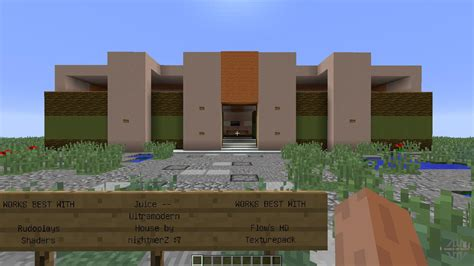 juice house juice ultramodern house for minecraft