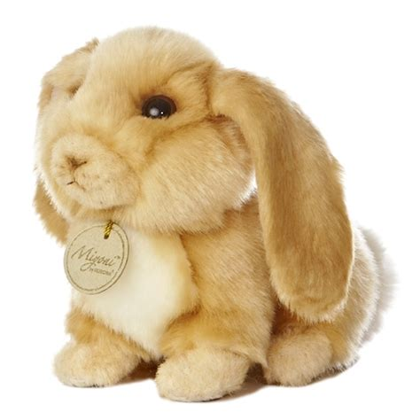 realistic stuffed realistic stuffed lop eared bunny 8 inch plush animal by