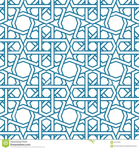 islamic web pattern islamic pattern vector seamless traditional stock vector