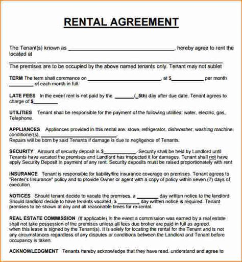 house lease agreement 8 rental house lease agreement printable receipt