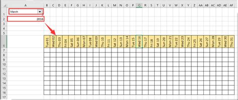 How To Create Calendar In Excel How To Create A Dynamic Monthly Calendar In Excel