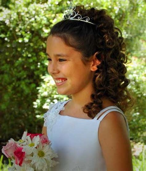 flower girl hairstyles curly flower girl hairstyles 11 stylish eve