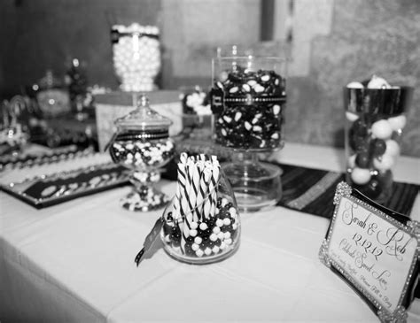 Black And White Buffet Black White Snowflake Theme Bridal Wedding Shower