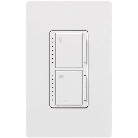 lutron maestro fan control lutron ma lfqhw wh maestro fan control and dimmer kit