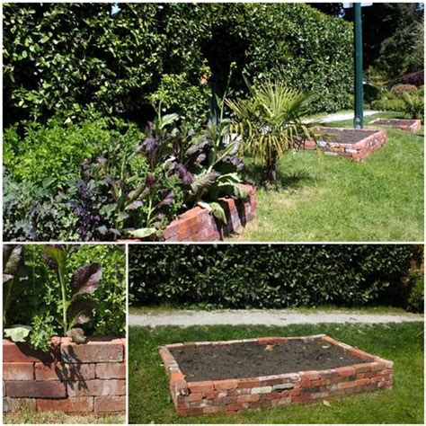 bricks garden pics converting lawn into raised garden beds without waste