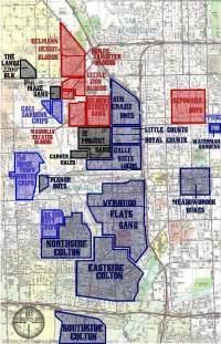 Las Vegas Gang Map by San Bernardino Amp Colton Gang Map Photo By Jaedubb