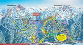 map of canada whistler whistler blackcomb maps for both whistler and blackcomb