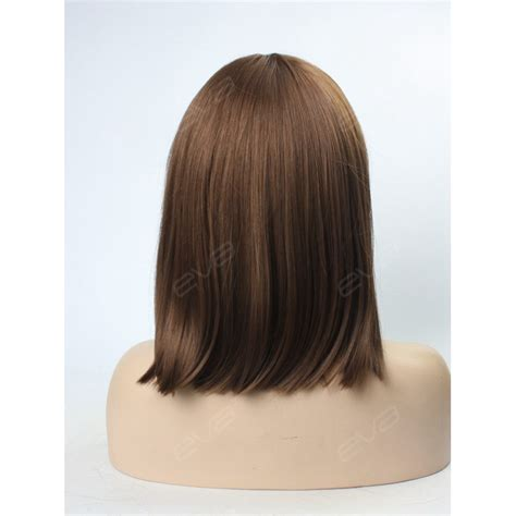 lob with bangs wigs evahair special medium length straight lob with bangs