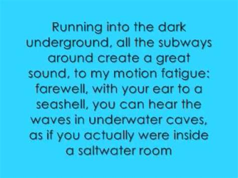 room lyrics the salwater room videolike