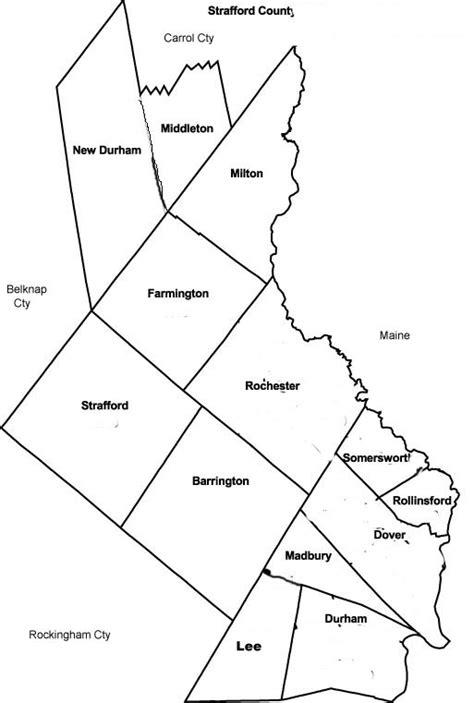 Maps of Strafford County New Hampshire | GenWeb