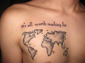 Map Of The World Tattoo by World Map Outline Tattoo For Pinterest