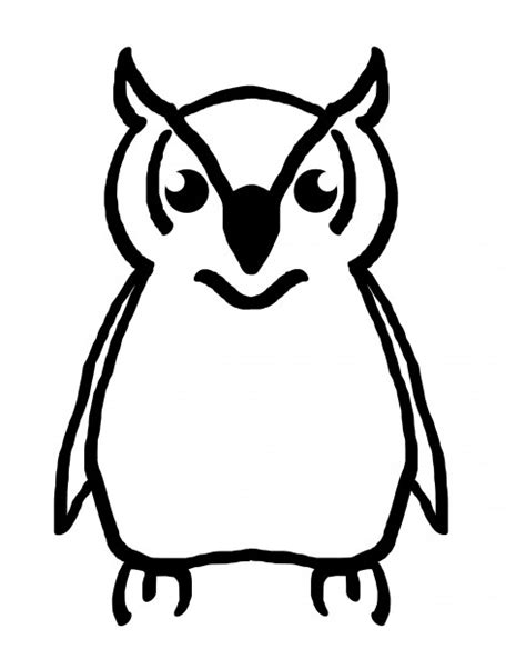 Owl Image Outline by Owl Outline Free Stock Photo Domain Pictures