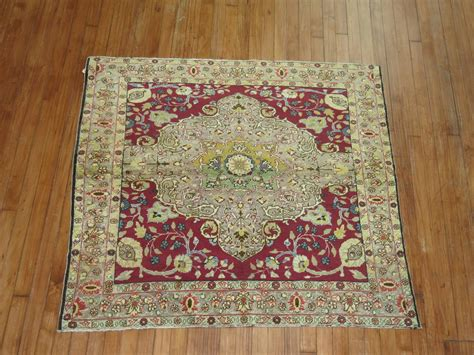 throw rug sizes antique turkish sivas square size throw scatter rug for sale at 1stdibs