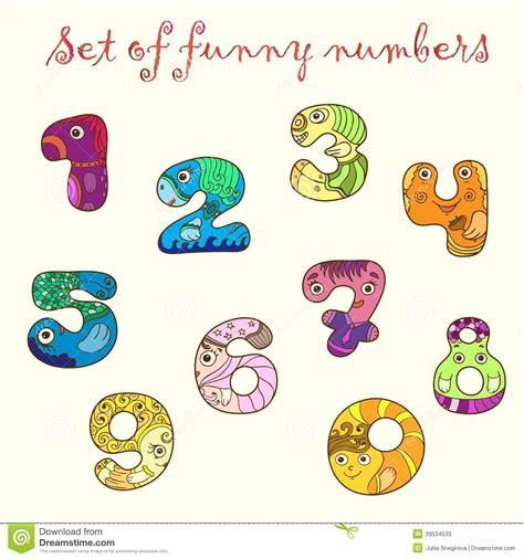 reeks kleurrijke grappige cijfers aantallen vector