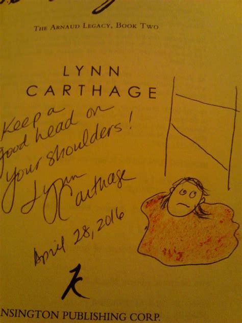 Signed Picpus the joys of signing books carthage author