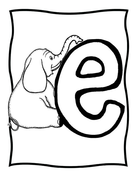 Letter 0 Coloring Pages by Coloring Pages For Letter Quot E Quot Coloring Pages For