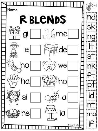 Ending Blends Worksheets and Activities (With images