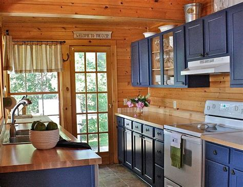 blue kitchen cabinets country cottage blue kitchen decoist