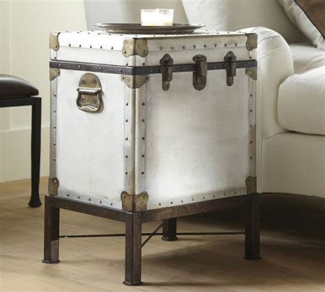 Trunk Side Table The Vintage Ludlow Trunk Side Table