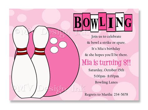 Bowling Birthday Card Template by Bowling Invitations Bowling Birthday Invitation