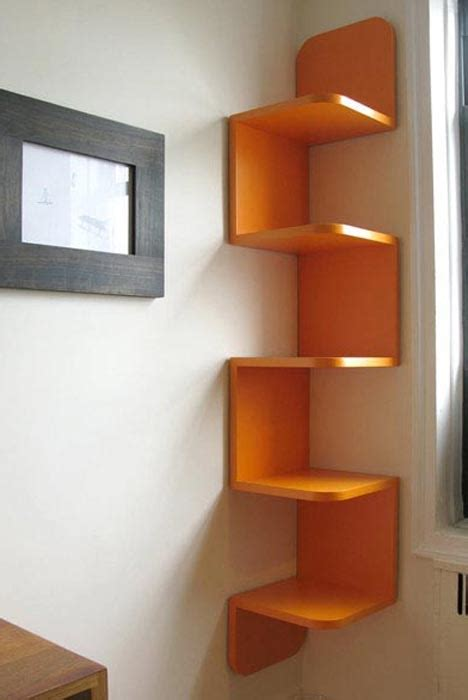 Corner Storage Shelf by Twisted Storage Wall Hanging Wood Corner Shelf System