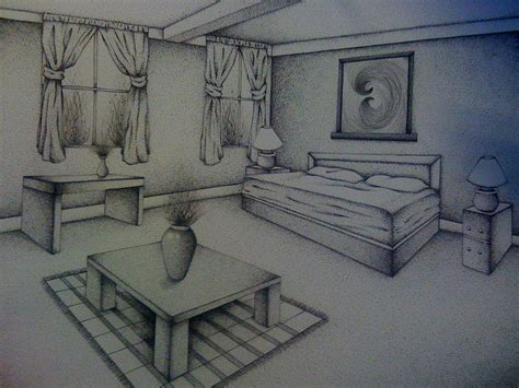 Two Point Perspective Interior by Interior Drawing Day To Day In The Visual Arts With